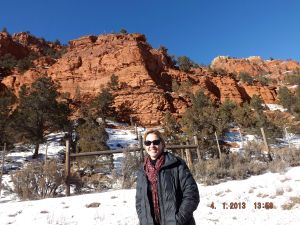 One of my first stops ...the mystical red cliffs of Colorado